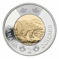 Canada 2 (Two) Dollars Coin, Toonie, Polar Bear, 2016