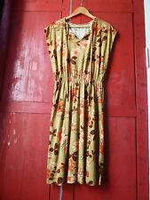 Robe retro vintage des années 60/70 sans manches, imprimé fleuri, taille 38/40