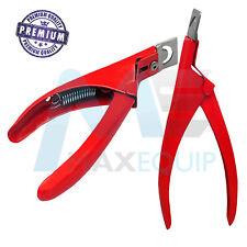 Acrilico Tip Cutter Gel UV False Finte Unghie in Acciaio Inox Manicure Pedicure Rosso