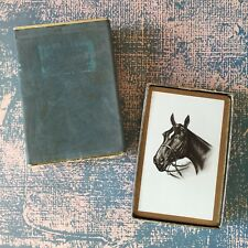 Vintage Playing Cards Magnificent Black Horse Gilded Edges with Box