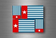 4x adesivi adesivo sticker bandiera vinyl tuning nuova guinea occidentale papua