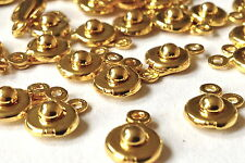 PUSH FIT CLASPS Gold Plated  10mm  2 part   25 pieces   MPC0084