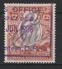 1903 Orange River Colony Bft:110 £2 Brown & Violet.Fine Used Revenue.