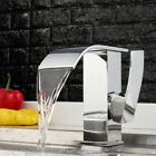 Modern Chrome Waterfall Bathroom Basin Faucet Single Handle Hole Sink Mixer Tap