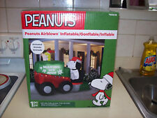 Animated  Inflable Light-Up Snoopy in  Ice  Machine Peanuts