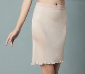 Lady 100% Silk Half Slips Skirts Underskirt Bodycon Petticoats Safety Lingerie