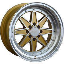 15x8 Gold Wheel XXR 538 4x100 4x4.5 0