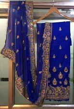 heavy stone embroidery dupatta salwar kameez wedding wear indian pakistani suit