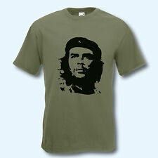 T-shirt Fun-shirt Cuba Libre Che Guevara Oliv s