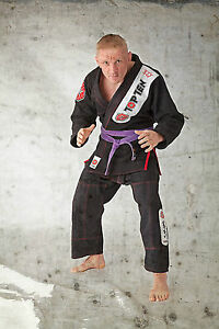 Brazilian Jiu-Jitsu Anzug TOP TEN schwarz. Größe L  (180cm). BJJ. Grappling. Gi.