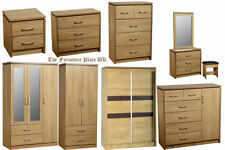 Oak Wardrobes with Mirrors