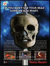 VANDAL-HEARTS__Original 1997 print AD / PlayStation game promo__KONAMI advert