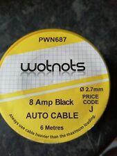 WOT-NOTS 1 CORE CABLE BLACK 6M 8A PWN687 TOP QUALITY ITEM