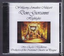 MOZART CD NEW DON GIOVANNI HIGHLIGHTS OF GALA PERFORMANCE/ CHARLES MACKERRAS
