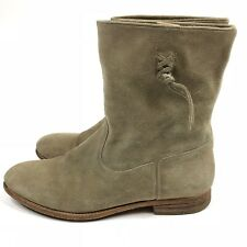 NDC Suede Ankle Boots  Size 10.5 - 11 EU 41 Womens Beige Made By Hand N.D.C.