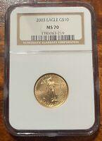 2003 1/4 OZ. GOLD EAGLES EAGLE G$10 MS