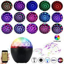 Disco Ball Party RGB LED Light USB Stereo DJ Bluetooth Speaker Stage Lamp Remote