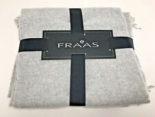 "FRAAS 100% Cashmere Throw Blanket Silver Gray 52"" x 72"" NWT $350"