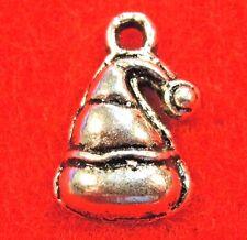 100Pcs. WHOLESALE Tibetan Silver CHRISTMAS Santa Claus HAT Charms Pendants Q0566