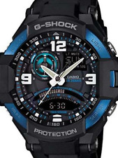 CASIO G-SHOCK GA1000-2B AVIATOR COLLECTION SOLID BLACK MILITARY TWIN SENSOR