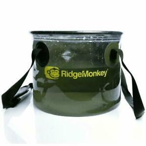 RidgeMonkey 15L Perspective Collapsible Water Bucket 50/50