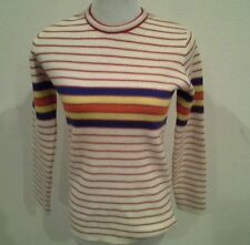 Crewneck Vintage Striped Sweaters For Women