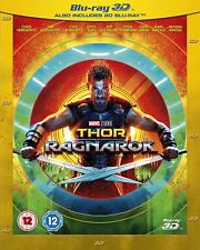 Marvel Thor Ragnarok 3d Blu-ray 2d UK Edition Region