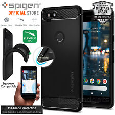 Original Spigen Protective Cover for Google Pixel 2 Raised Edge Rugged Case