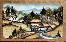 Adolf Herr - Black Forest Picture  12 x 7 1/2 Inches AH HB 2 NEW
