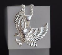 Adler Anhänger Raubvogel - 925 Sterling Silber -  Silberanhänger mit Kette Falke