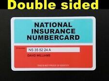 More details for national insurance ni card replacement replica double sided best price on ebay