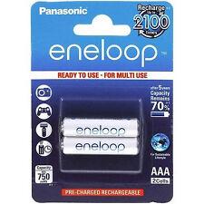 Panasonic Eneloop AAA  Akku Set 2er Blister Akkus HR03 1,2V NiMh BK-4MCCE/2BE