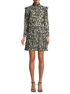 ROBERT RODRIGUEZ Nikita Floral Print Cotton & Silk Dress Size 12 NWT $595