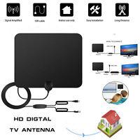 Indoor HD Digital TV Antenna 80 Miles Long Range Amplified HDTV Signal Booster