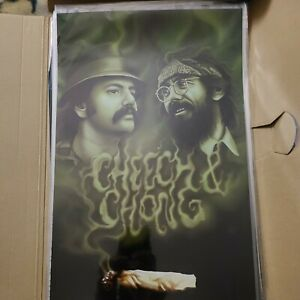 CHEECH AND CHONG RARE POSTER 11X17 CHICANO ARTE