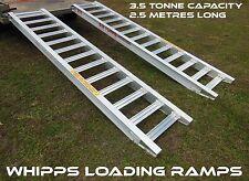 3.5 Tonne Capacity Trailer Machinery Ramps 2.5 metres long x 400mm track
