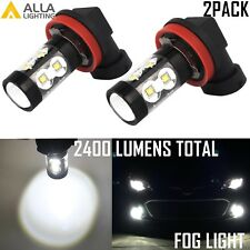 Alla Lighting 50W-SMD LED H8 Fog/Cornering Light Bulb Driving Lamp White 6000K