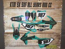 KTM SX SXF 85 125 250 450 FULL MOTOCROSS GRAPHICS KIT-FULL STICKER KIT-TEAL FAC
