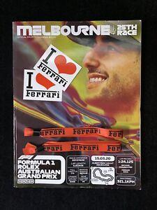 MELBOURNE 25TH RACE OFFICAL RACE PROGRAMME-F1 ROLEX AUSTRALIAN GRAND PRIX 2020