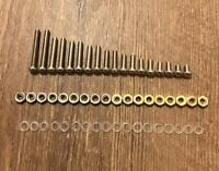 Turntable Headshell Cartridge Mounting Screws 54 Piece Set! Brass/Stainless Nuts