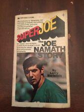 1969 Super Joe The Joe Namath Story Tempo Books 1st Printing August 1969