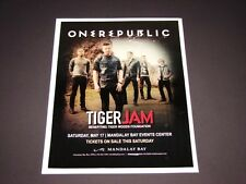 """One Republic Live In Concert 2014 Las Vegas Matted Concert Ad Promo 15"""" x 12"""""""