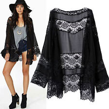 Women Kimono Cardigan Kaftan Shawl Coat Vintage Beach Bikini Cover Up Blouse Top