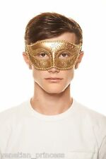 Men's Handsome Gold Venetian Masquerade Mask Mardi Gras Wedding Prom Brand NEW