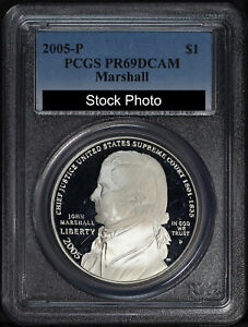 2005-P Marshall Silver Dollar Commemorative PCGS PR-69DCAM