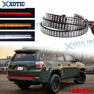 """For Truck SUV 48"""" 5 Functions 432 LED Reverse Running Tailgate Light Strip Bar"""