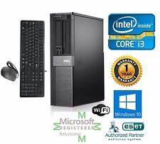Dell 790 Desktop Computer Intel Core i3 Windows 10 HP 64 120GB SSD 3.3ghz 8gb