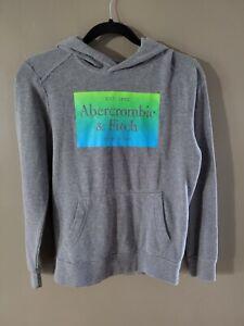 Abercrombie Kids Hoodie Boys Size 13/14 Gray w/ Logo Sweatshirt