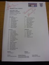 28/05/2008 Autographed Colour Teamsheet: England v United States Of America [At