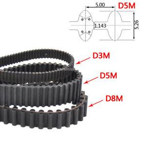 Zahnriemen D3M D5M Doppelzahnriemen 15mm 20mm 25mm Breite Doppelt Verzahnt Belt